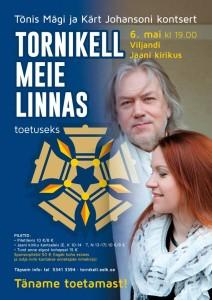 Tõnis Mägi ja Kärt Johansoni kontsert 6.5 kell 19